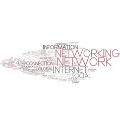 Digital networking word cloud concept vector