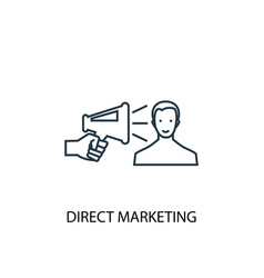 Direct marketing concept line icon simple element vector