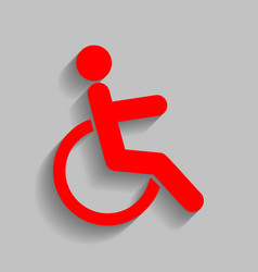 Disabled sign red icon with vector