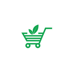 Eco shopping icon symbol eps10 vector