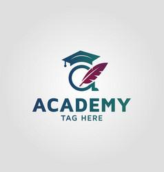 Education logo design letter a design template vector