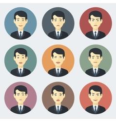Emotions of Businessman vector image