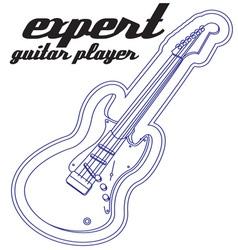 Expert Guitar Player vector