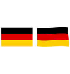 federal republic of germany flag simple and vector image