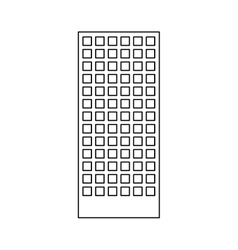 figure building line sticker image vector image