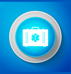 First aid box and medical symbol star of life vector