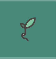 Fresh organic sprout modern line logo mark vector