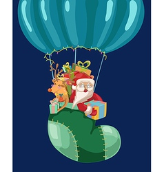 Funny Color Christmas background with hot air vector image