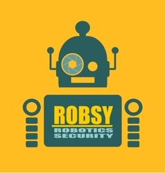 Funny security robot vector image