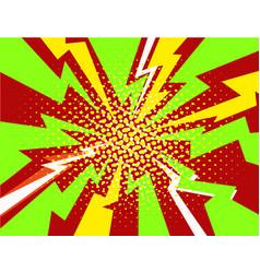 halftone pop art comic style lightning vector image