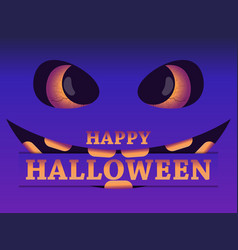 happy halloween october 31st evil scary face vector image
