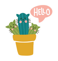 hello cats vector image