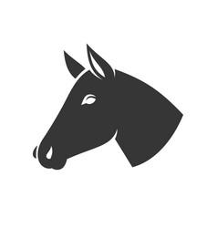 horse head icon logo vector image
