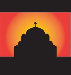 hram svetog save saint sava church belgrade vector image