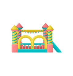 inflatable trampoline amusement park element vector image