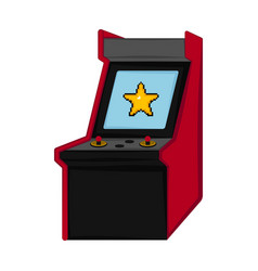 isolated arcade icon vector image