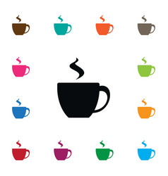 isolated cappuccino icon cup element can vector image