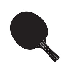 Isolated ping pong racket vector