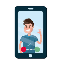 Isolated smartphone design vector