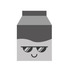 Kawaii milk box cartoon vector