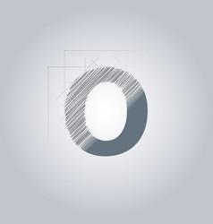 Letter o logo alphabet logotype architectural vector