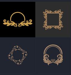 Luxury floral decorative logo vector