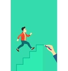 Man running upstairs vector image