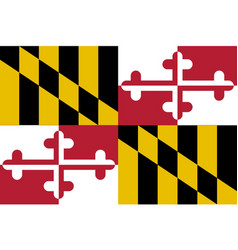 maryland state flag royalty free vector image vectorstock rh vectorstock com maryland flag vector free download waving maryland flag vector