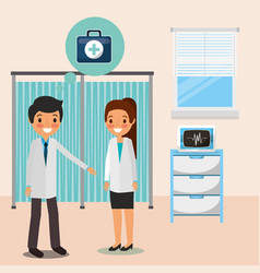 medical people professional vector image