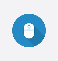 mouse Flat Blue Simple Icon with long shadow vector image