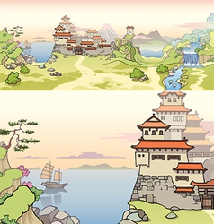 Old Japanese Castle vector