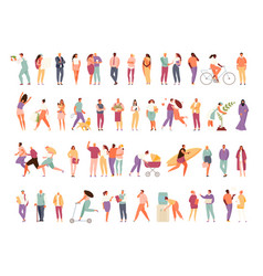 People group different activity vector