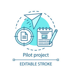 Pilot project concept icon vector