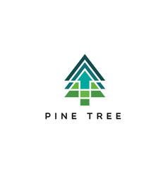 Pine logo with up arrow vector
