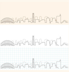 raleigh hand drawn skyline vector image
