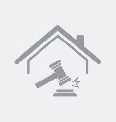 residential house auction concept vector image