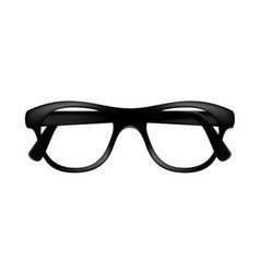 Retro glasses frame in dark design without lenses vector
