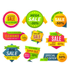 sale banners price tag promotion stickers labels vector image