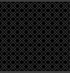 seamless black geometric pattern vector image