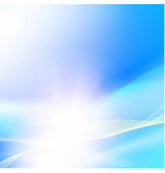Shining blue background vector