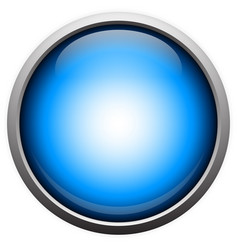 simple blue orb with reflection vector image