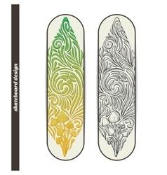 Skateboard Design Five vector image