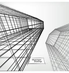 Skyscrapers landscape vector