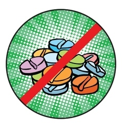 Stop doping sign icon vector
