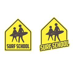 Surfing school logo vector