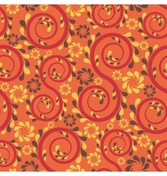 Swirl floral seamless vector image