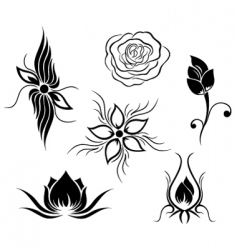 tattoo and flower pattern vector image