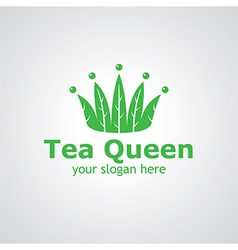 tea queen vector image