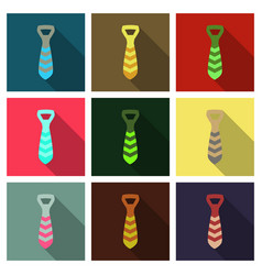 tie icon in trendy flat style isolated on vector image