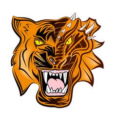 tiger vs dragon vector image